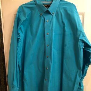 Light blue Ariat button down shirt